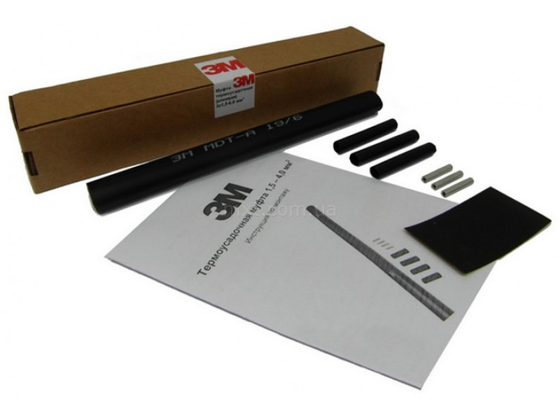 Термоусадочная муфта GPS-1 для кабеля скважинного насоса 4x1.5-2.5 мм2