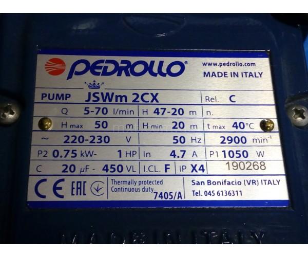 JSWm 2CX насос Pedrollo самовсасывающий