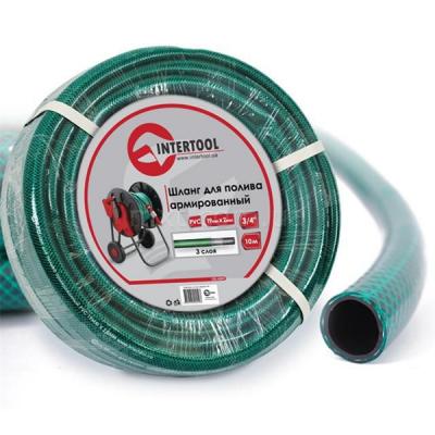 """Шланг для полива 3-х слойный 3/4"""", 10 м, армированный PVC INTERTOOL GE-4041"""