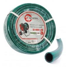 """Шланг для полива 3-х слойный 3/4"""", 20 м, армированный PVC INTERTOOL GE-4043"""