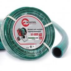 """Шланг для полива 3-х слойный 3/4"""", 100 м, армированный PVC INTERTOOL GE-4047"""